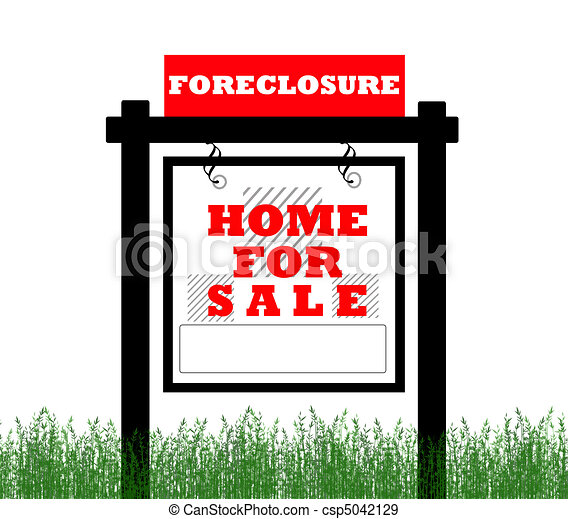 Real Estate home for sale sign - csp5042129
