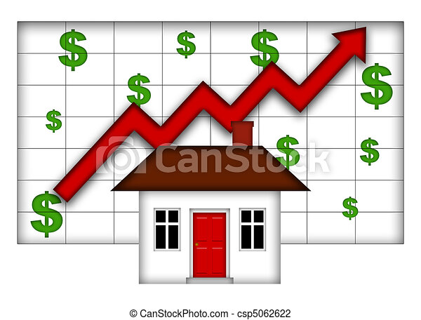 Real Estate Home Values Going Up - csp5062622