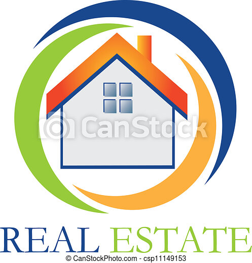 Real estate house logo - csp11149153