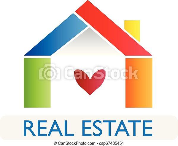 Real estate house logo - csp67485451