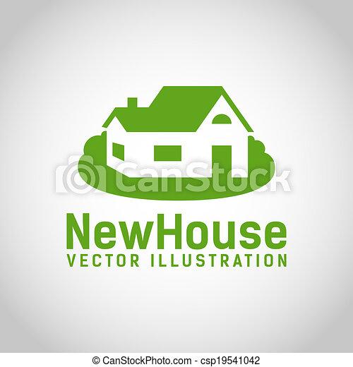 Real Estate House logo - csp19541042