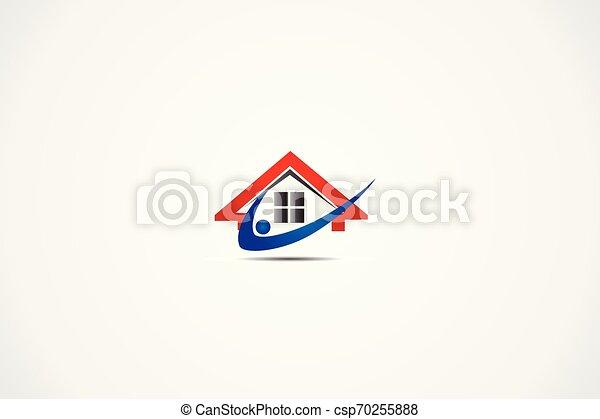 Real estate house logo - csp70255888