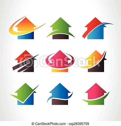 Real Estate House Logo Icons - csp26395709