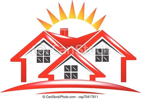 Real estate house logo - csp70417611