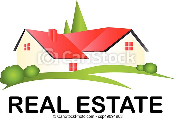 Real estate house logo - csp49894903