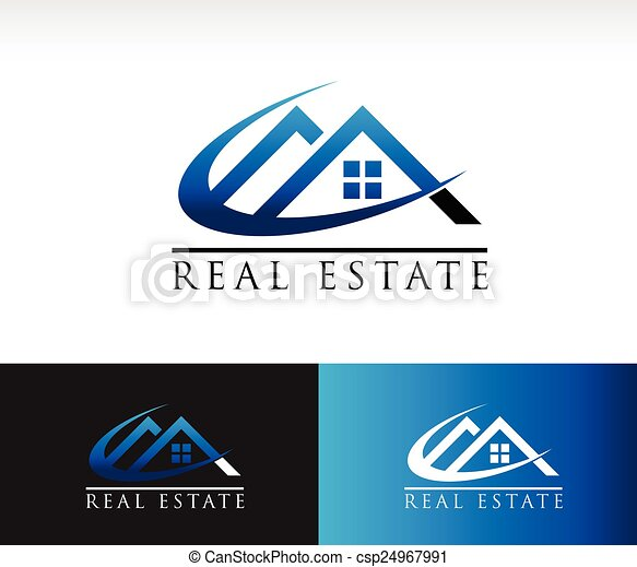 Real Estate House Roof Icon - csp24967991