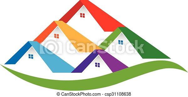 Real estate houses logo - csp31108638