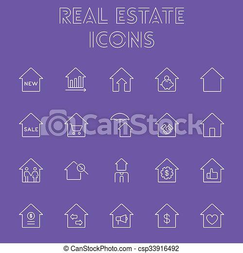 Real estate icon set. - csp33916492