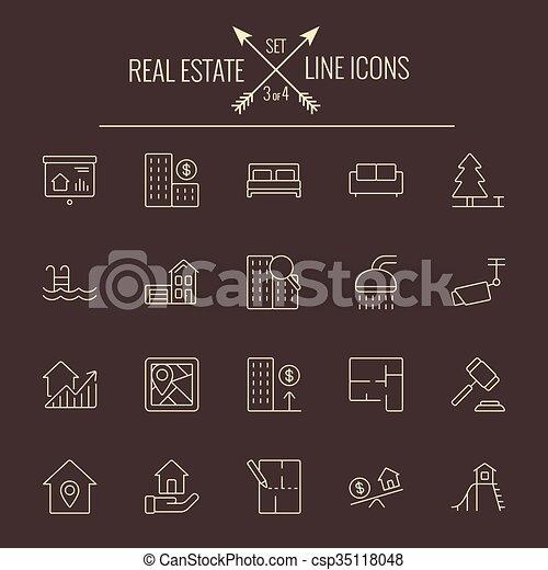 Real estate icon set. - csp35118048