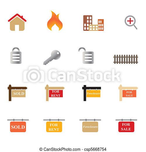 Real Estate Icon Set - csp5668754