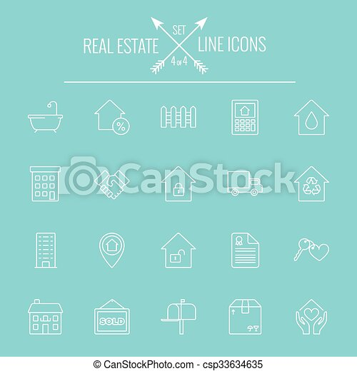 Real estate icon set. - csp33634635