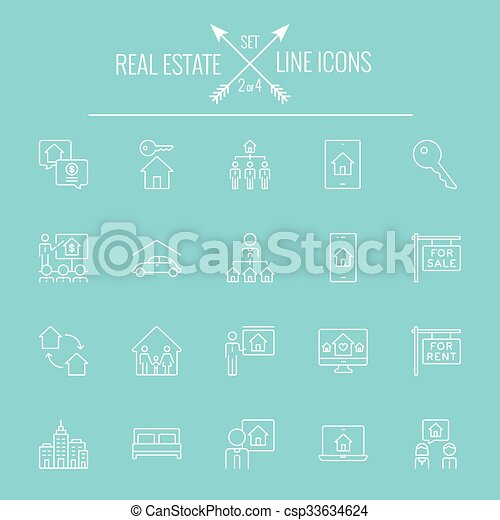 Real estate icon set. - csp33634624