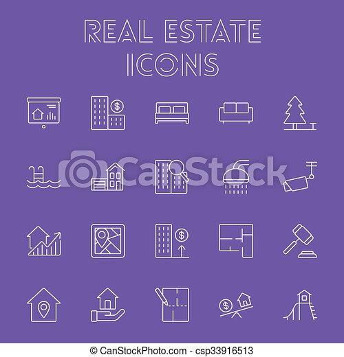 Real estate icon set. - csp33916513