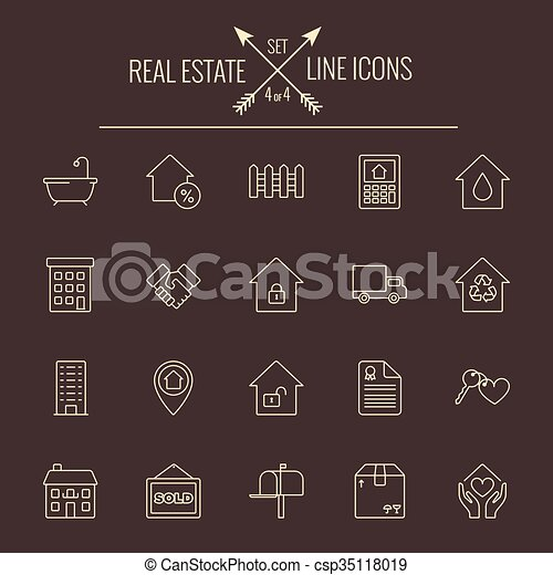 Real estate icon set. - csp35118019