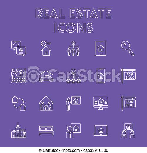 Real estate icon set. - csp33916500
