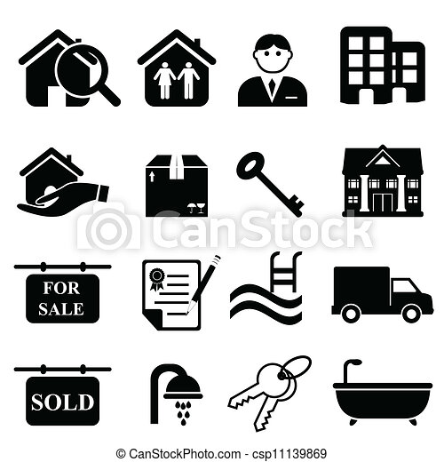 Real estate icons - csp11139869