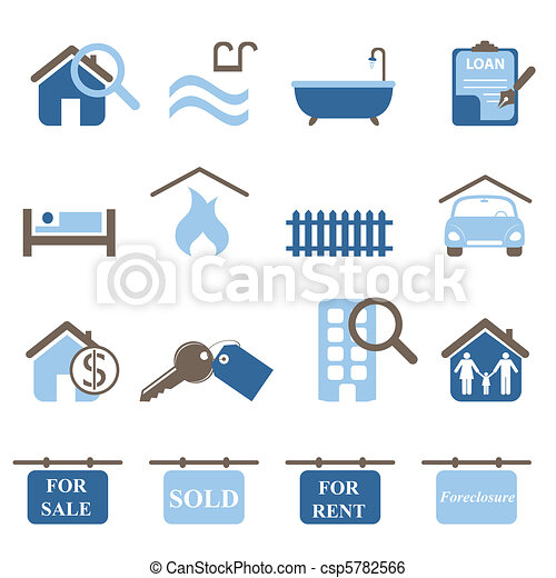 Real estate icons - csp5782566