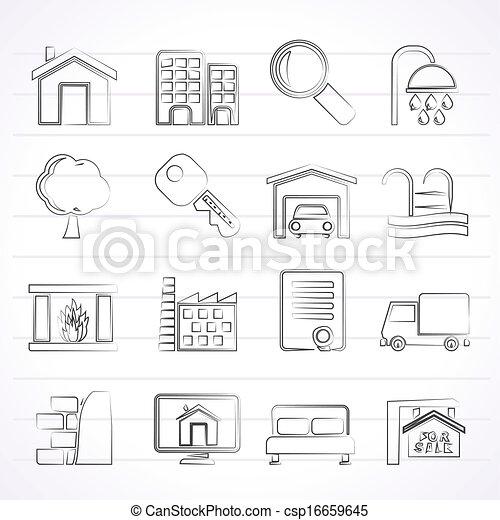 Real Estate Icons - csp16659645