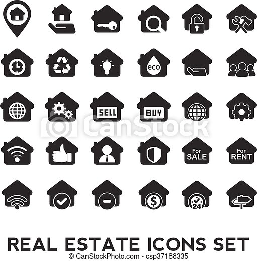 Real Estate icons. - csp37188335
