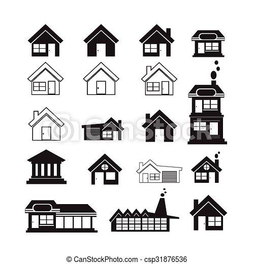Real Estate Icons set - csp31876536