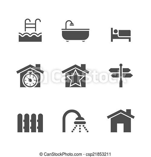 Real estate icons - csp21853211
