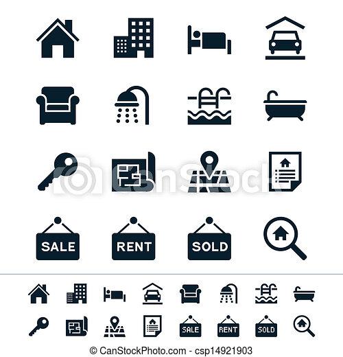 Real estate icons - csp14921903