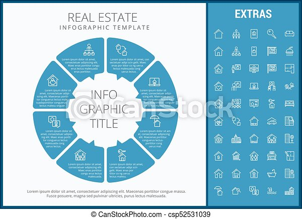 real estate infographic template elements icons real estate
