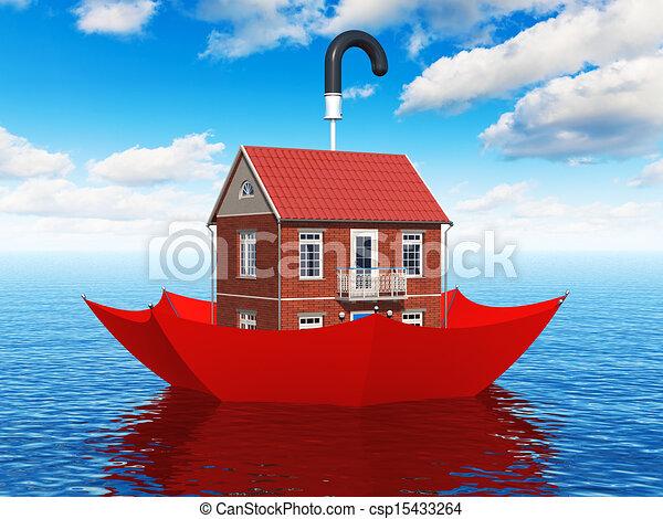 Real estate insurance concept - csp15433264