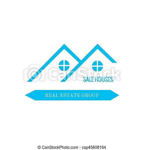 Real Estate logo design - csp45608164