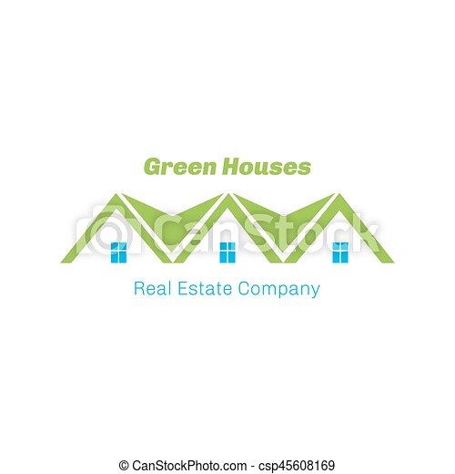 Real Estate logo design - csp45608169