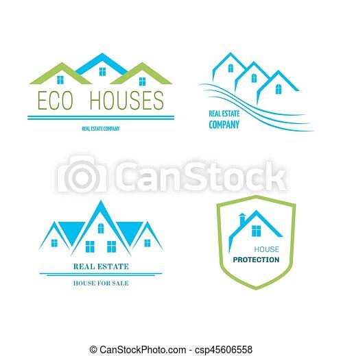Real Estate logo design - csp45606558