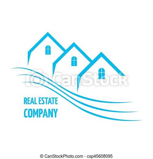 Real Estate logo design - csp45608095