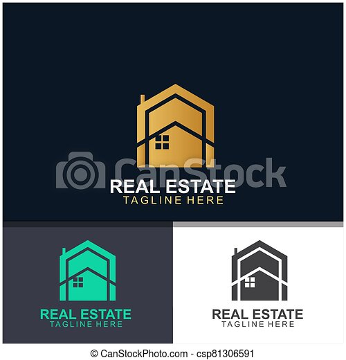 Real estate logo design - csp81306591