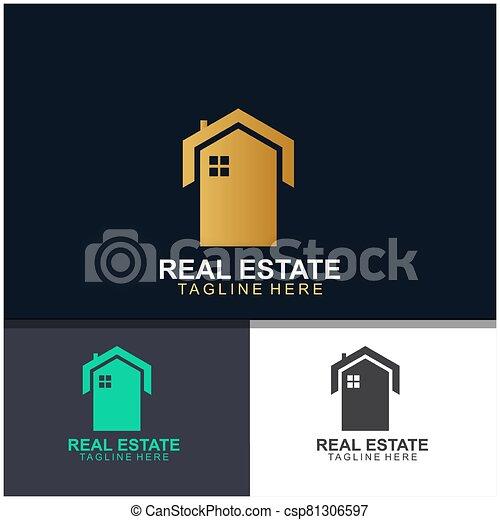 Real estate logo design - csp81306597
