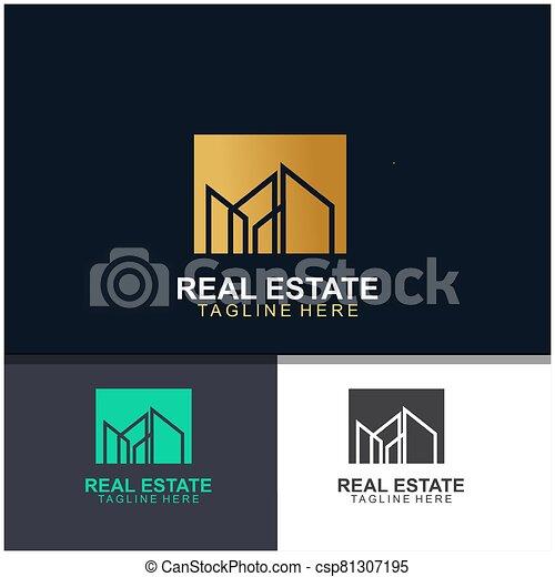 Real estate logo design - csp81307195