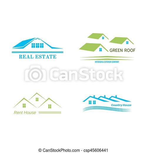 Real Estate logo design - csp45606441