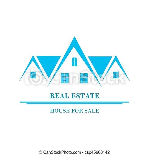 Real Estate logo design - csp45608142