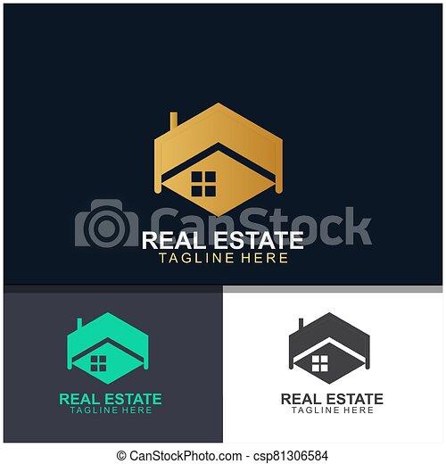 Real estate logo design - csp81306584