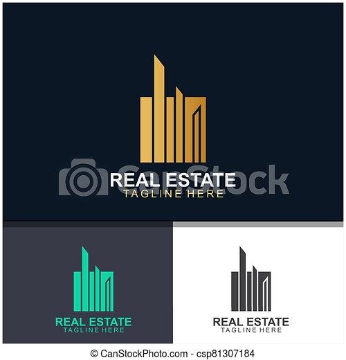 Real estate logo design - csp81307184