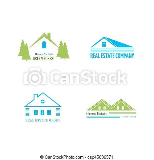 Real Estate logo design - csp45606571
