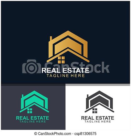 Real estate logo design - csp81306575