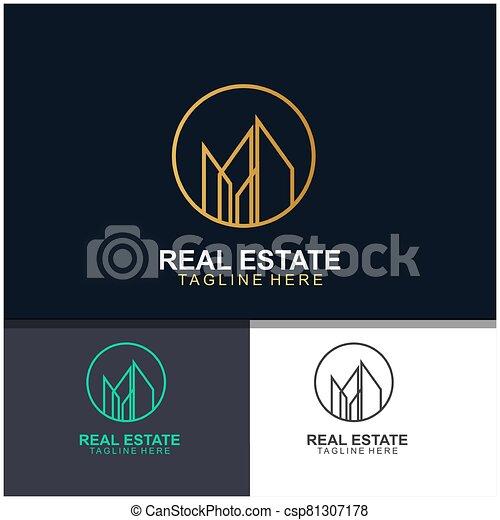 Real estate logo design - csp81307178