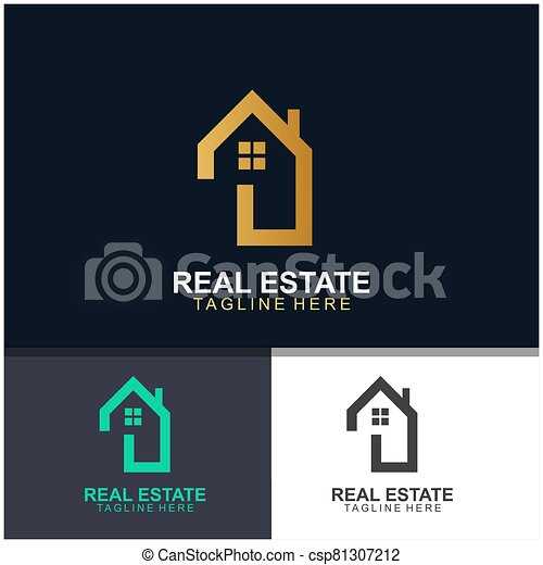 Real estate logo design - csp81307212