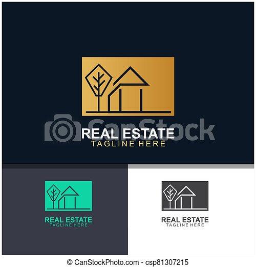 Real estate logo design - csp81307215