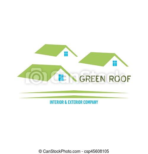 Real Estate logo design - csp45608105
