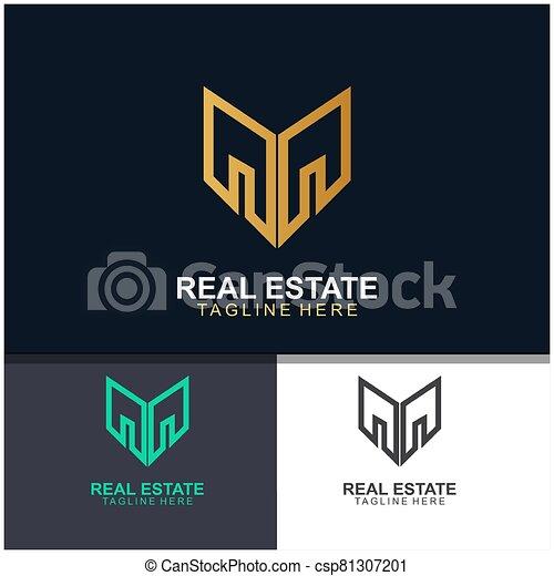 Real estate logo design - csp81307201