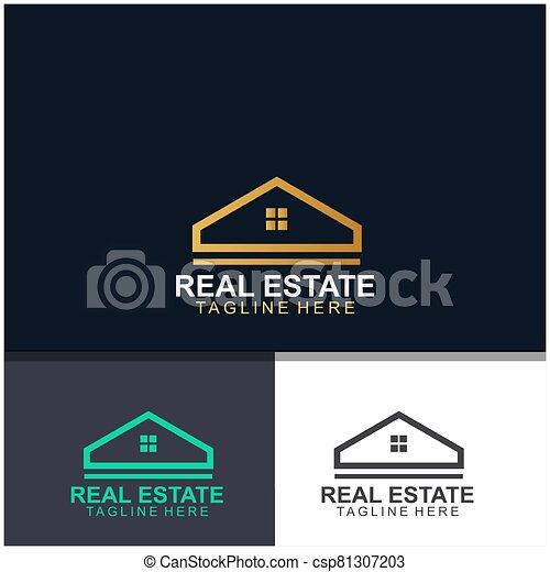 Real estate logo design - csp81307203