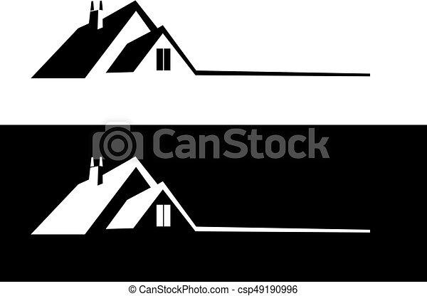 Real estate logo - csp49190996