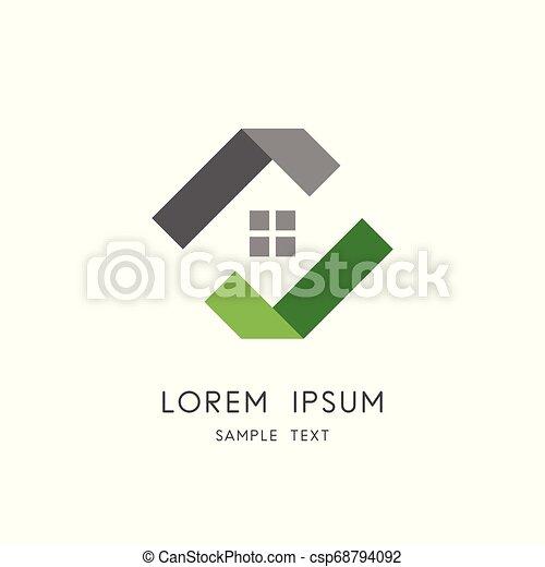 Real estate logo - csp68794092