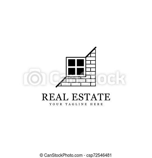 real estate logo - csp72546481